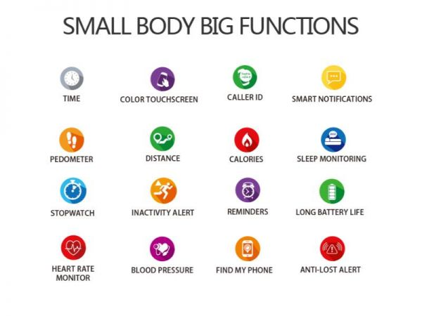 f8 health smart watch functions