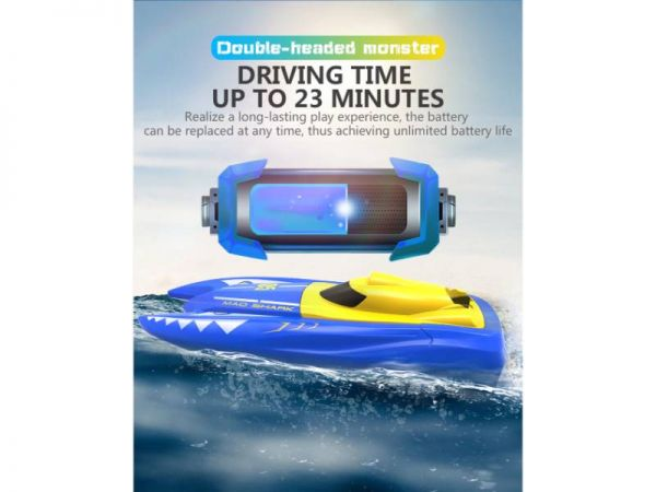 rc speed boat driving time