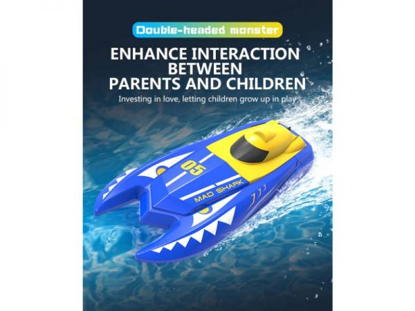 rc speed boat interaction