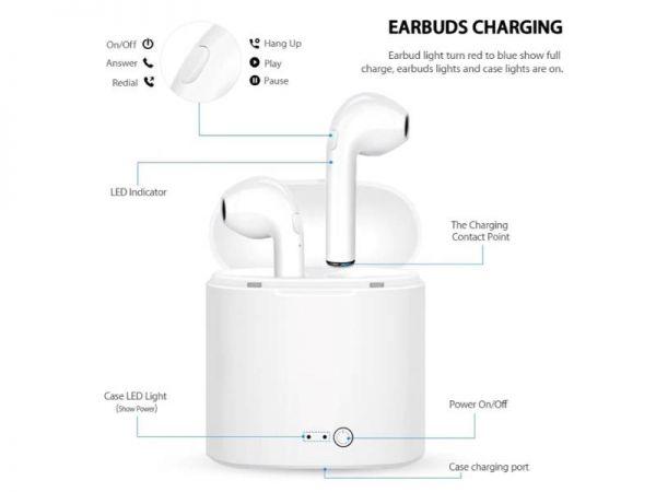 i7s BT earphone function