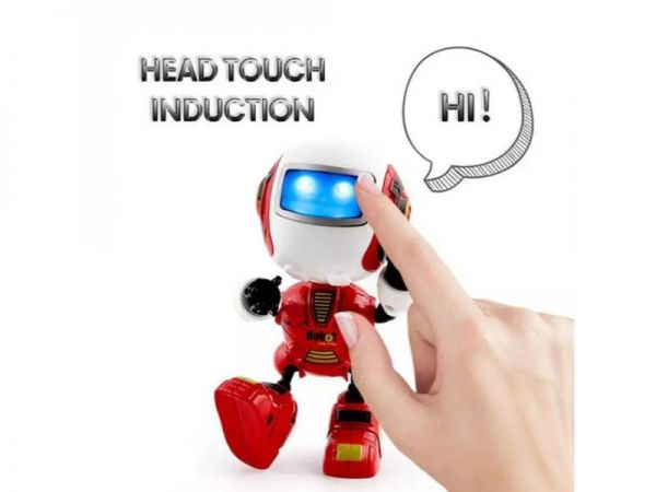 q2 educational robot head touch induction