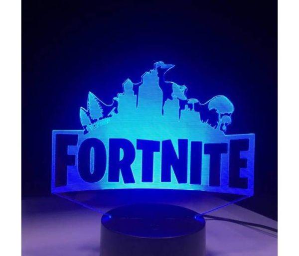fortnite hologram lamp blue