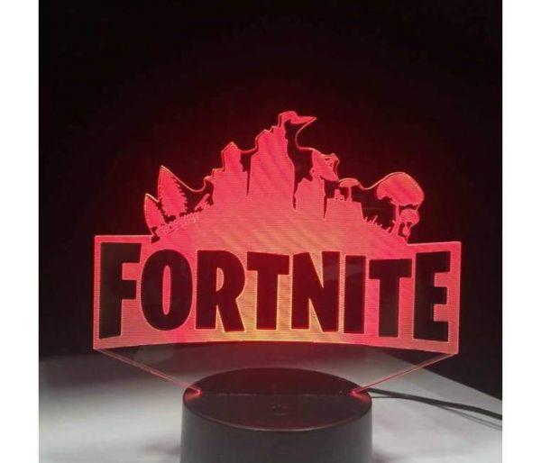 fortnite hologram lamp red
