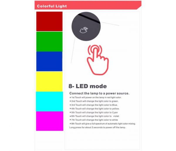 forntite hologram lamp 8 colors