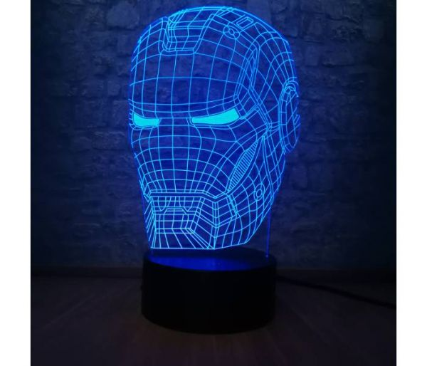 iron man hologram lamp blue
