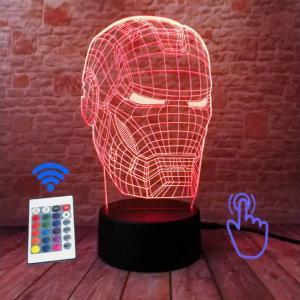 iron man hologram lamp red