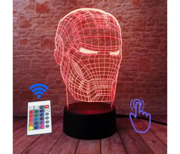 iron man hologram lamp red