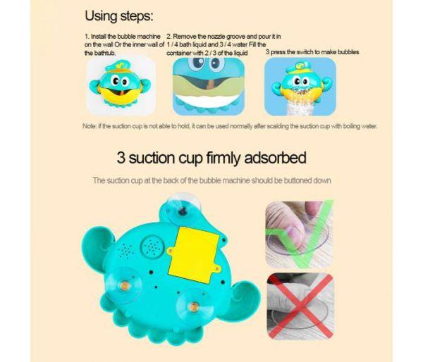 octopus bubble machine using steps