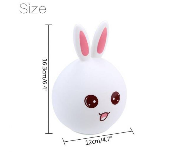 rabbit color changing lamp dimensions