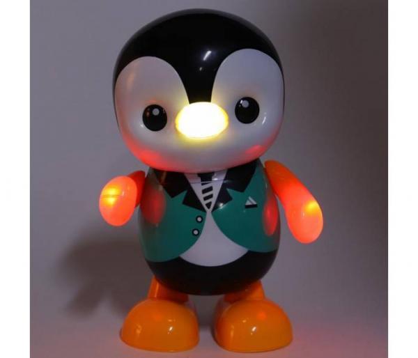 music dancing penguin toy led light