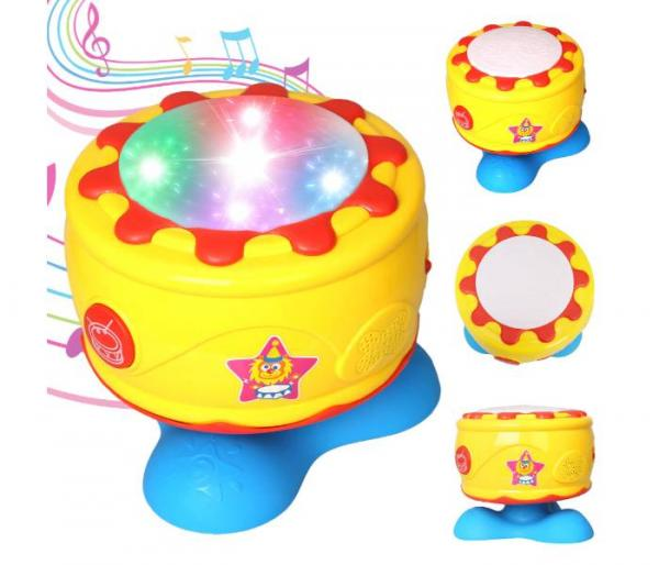 rotating musical drum with light