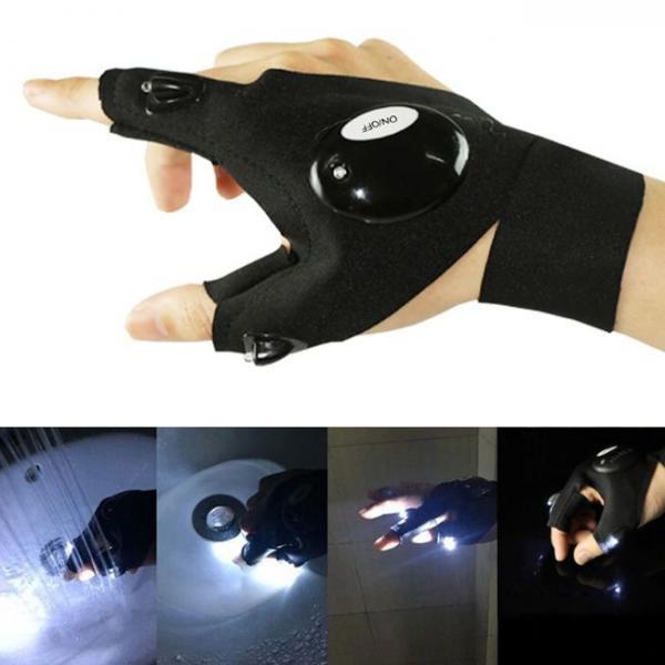 LED Flashlight Smart Waterproof Gloves multiple uses.