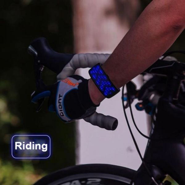 Futuristic LED Bracelet suitable for bikers at night