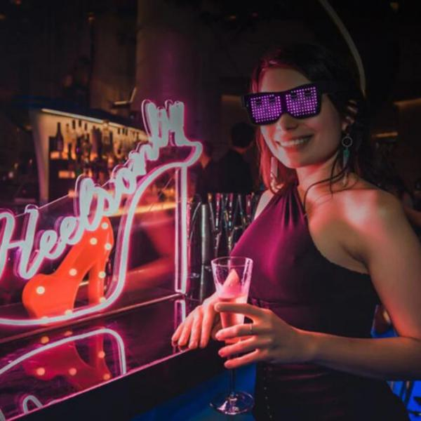 Led Bluetooth Glasses connected with smartphones - for Nightclubs