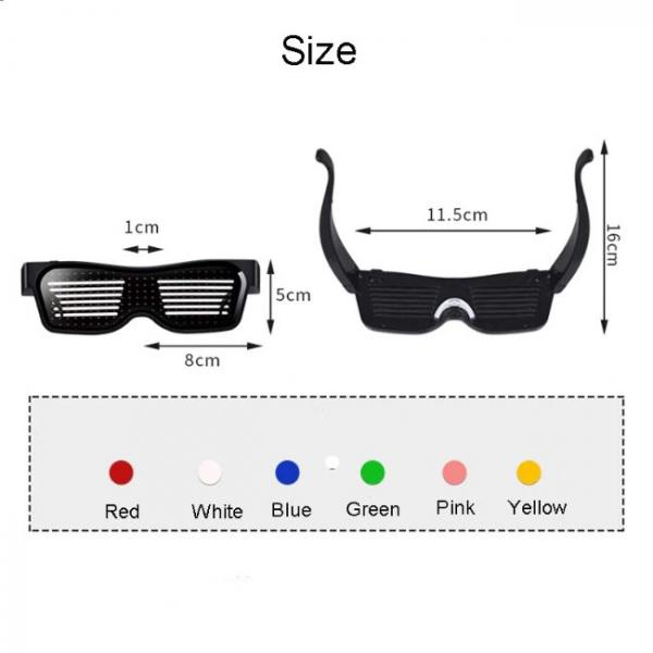 Led Bluetooth Glasses connected with smartphones - Many sizes and colors