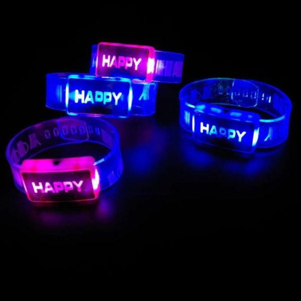 Light Up Bracelet with glowing letters