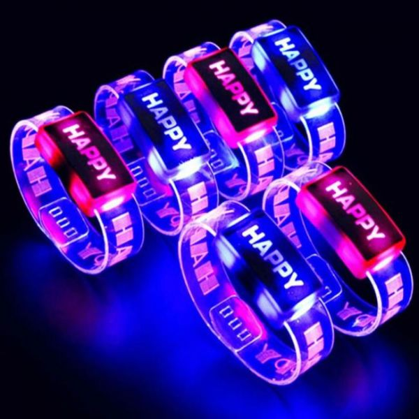 Light Up bracelet with glowing letters - Happy