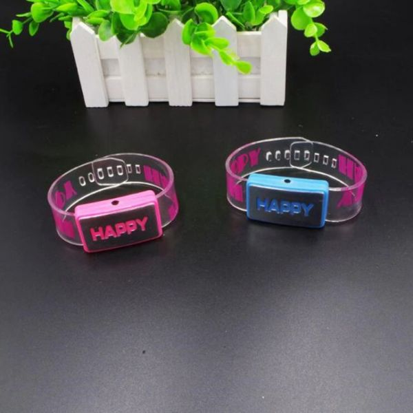 Light Up bracelet with glowing letters - happy version