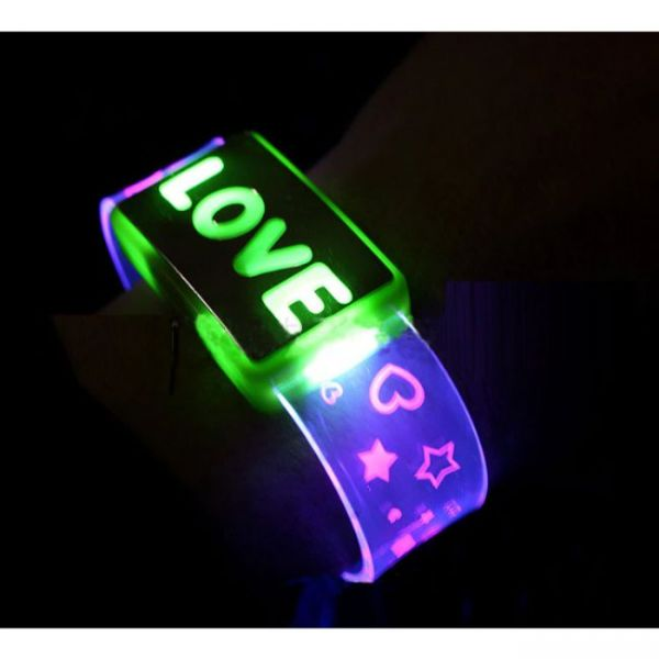 LED Wristband Bracelet with Flashing Letters - Love version