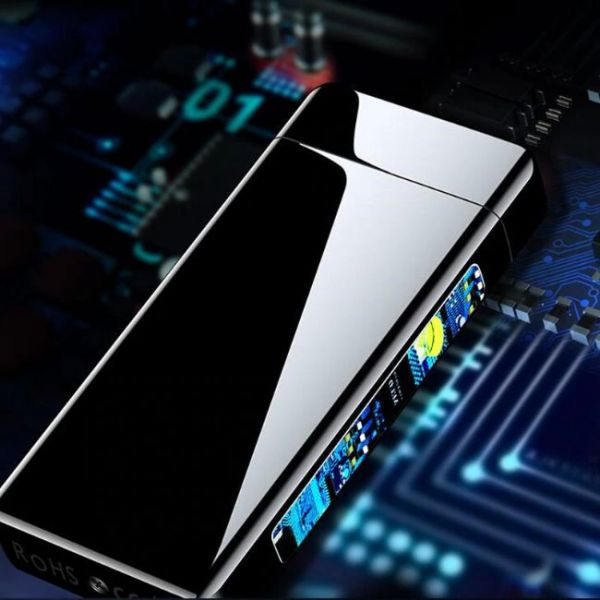 USB Arc Flame Plasma Lighter power display