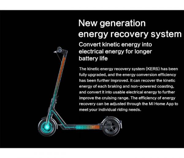 Xiaomi Mi 1S E-Scooter Kinetic Recovery System