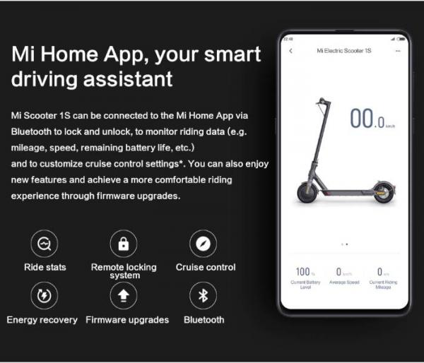 Xiaomi Mi 1S E-Scooter bluetooth connection with mobile