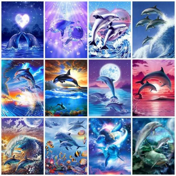 Painting with diamonds in 5d Dolphins