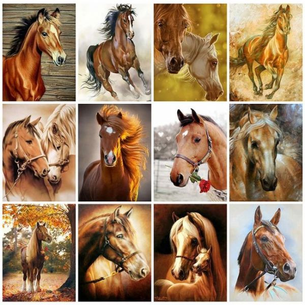 Painting with diamonds in 5d Horses