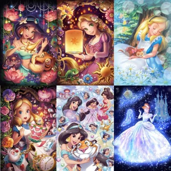 Painting with diamonds in 5d - fairytale princesses