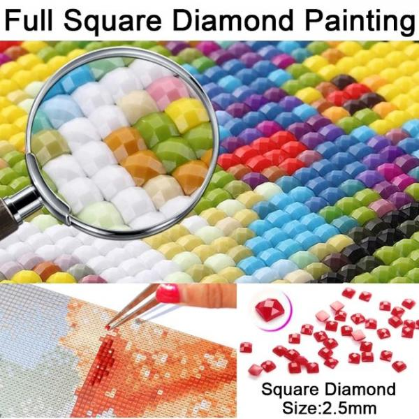 Painting with diamonds in 5d size of diamonds