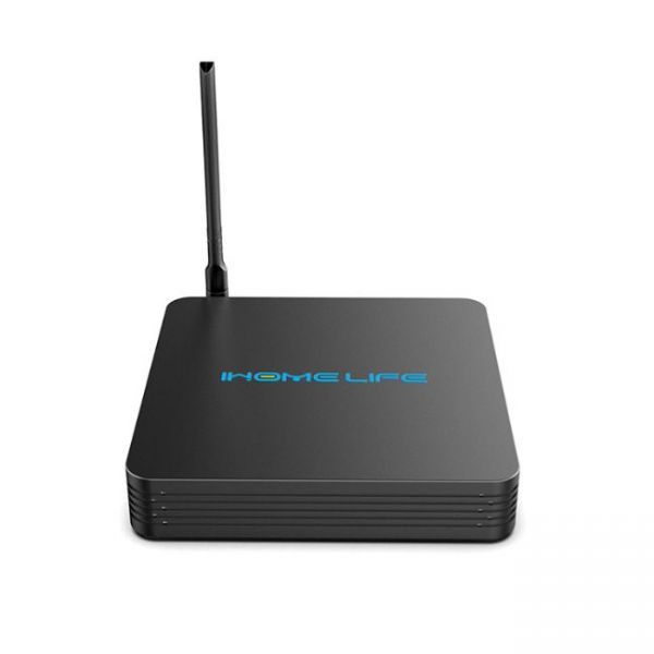 HQL MAX+ IHOMELIFE Android TV Box - front view