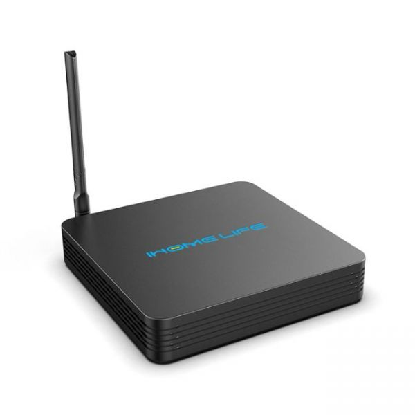 HQL MAX+ IHOMELIFE Android TV Box - left side view