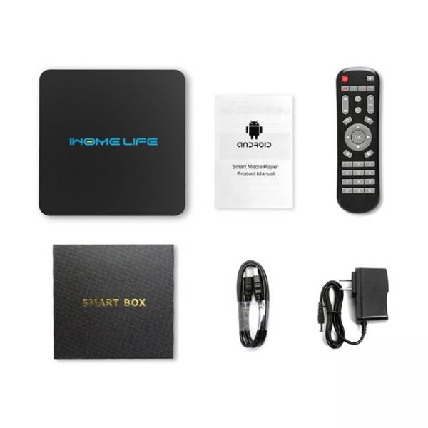 HQL MAX+ IHOMELIFE Android TV Box what package contains
