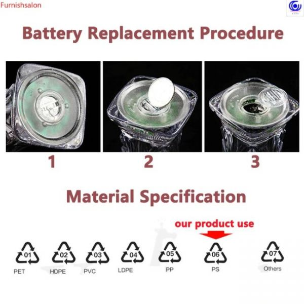 LED Automatic Flashing Cup replacement of the battery