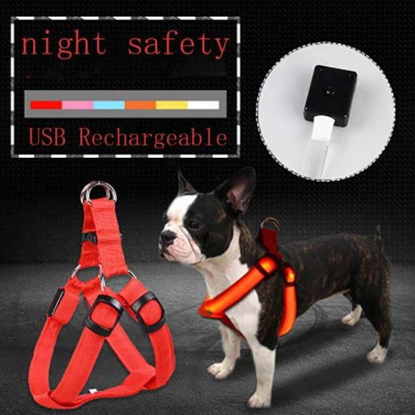 Led Dog Harness Anti-Lost Charged by USB that keeps pets safe