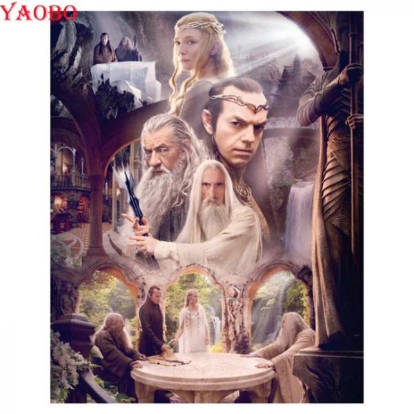 Painting with diamonds in 5d lord of the rings figures