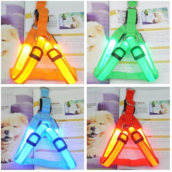 Led Dog Harness Anti-Lost Charged by USB with 3 flashing modes