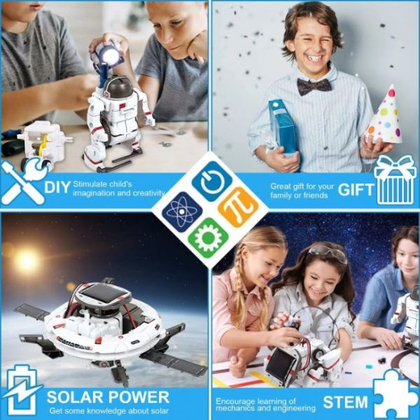 6 in 1 Educations Solar Robot Kit of STEM a nice gift for kids