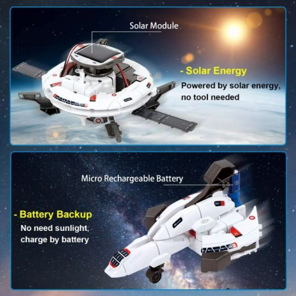 6 in 1 Educations Solar Robot Kit of STEM with many transformations