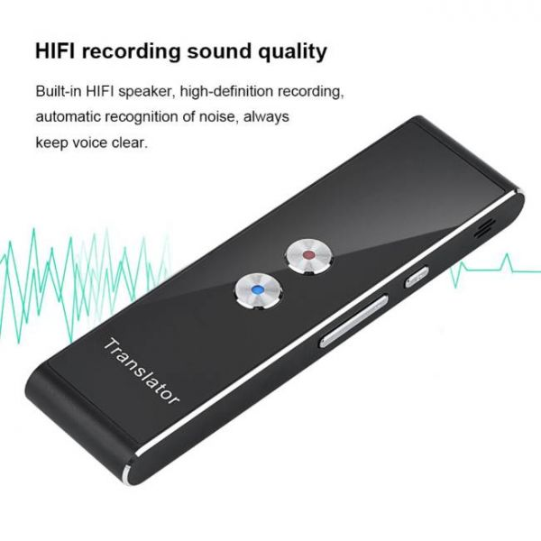 40 languages real time voice translator with high definition recording