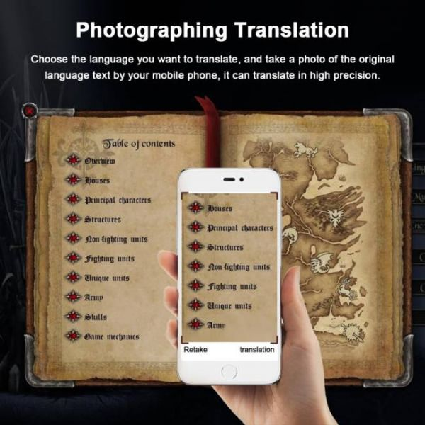 40 languages real time voice translator with photo translation function