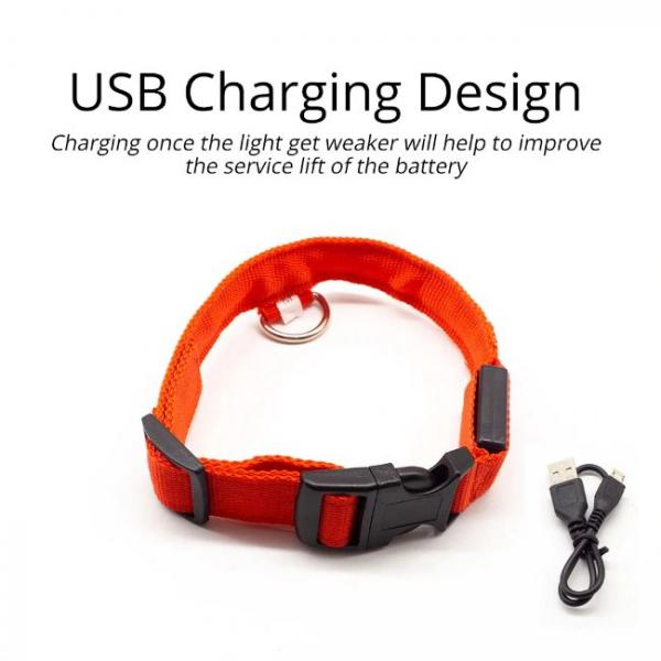Led Dog Collar Anti-Lost Charged by USB