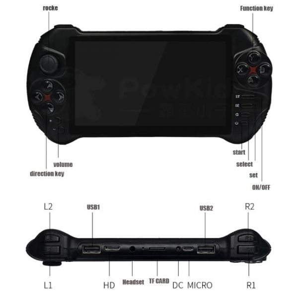 5.5 Inches Android Handheld Game Console - Sizes and Specifications