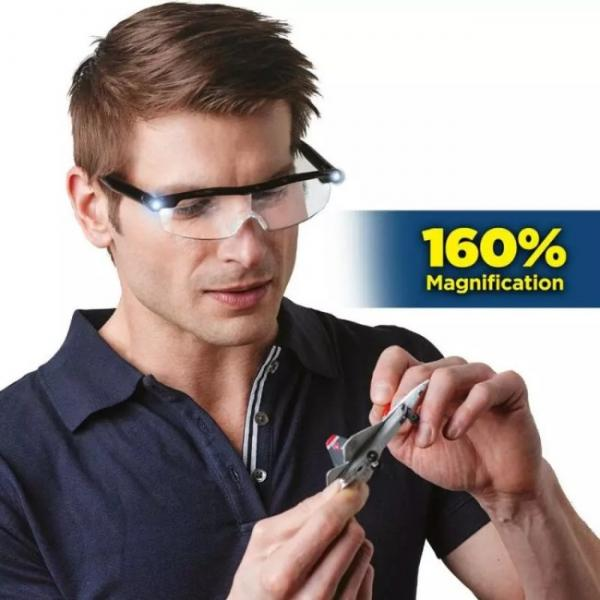 Mighty sight LED magnifying glasses - 160% magnification