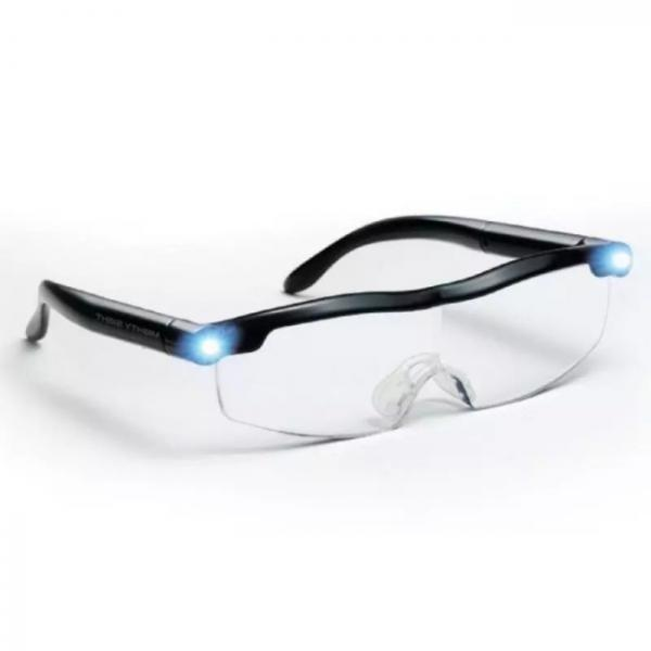 Mighty sight LED magnifying glasses - view from the side