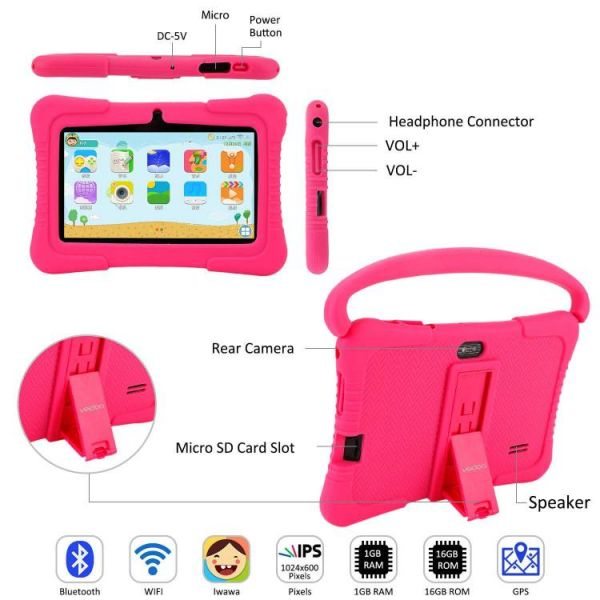 Kids tablet that parents can control with many ports
