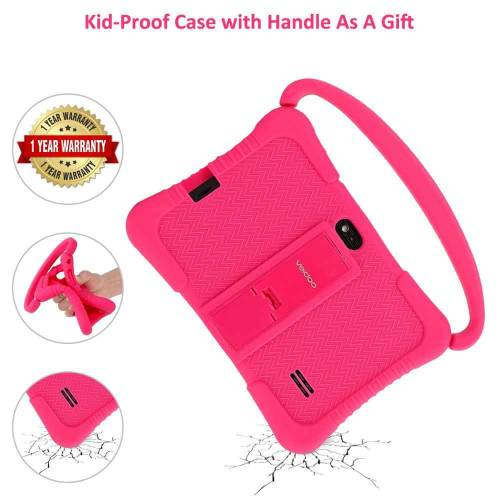 Kids tablet that parents can control with case and handle
