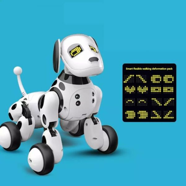artificial intelligence programmable robot dog that can express emotions