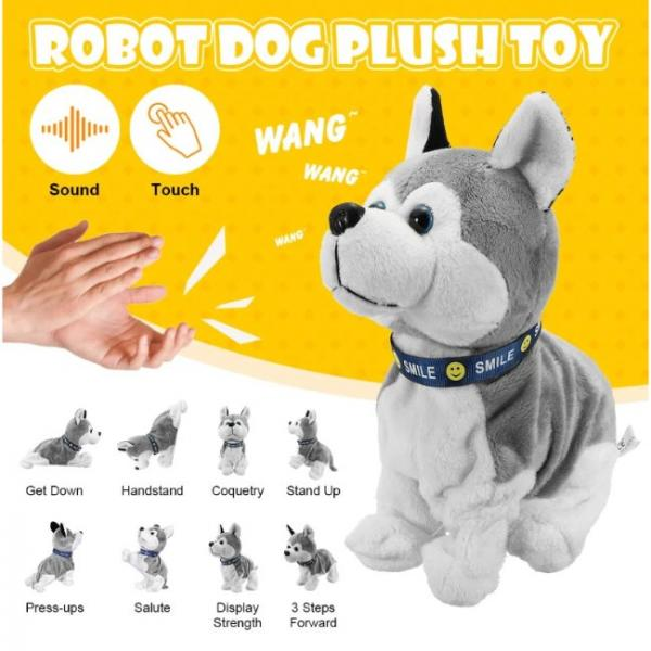 Smart dog toy that interacts with sound