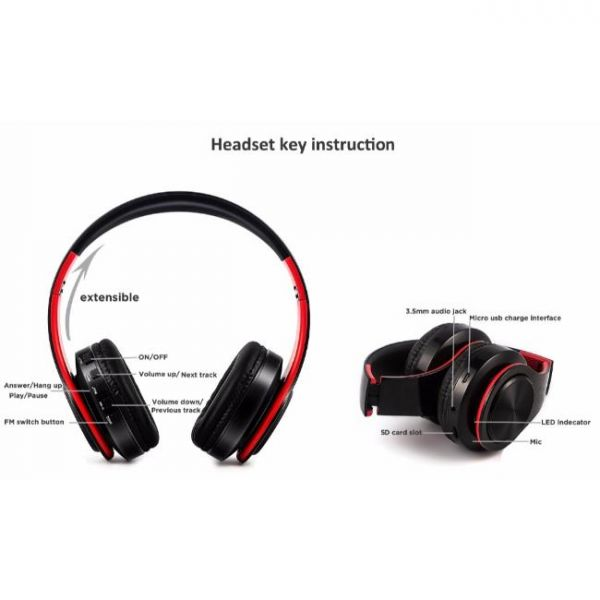 wireless earphones with crystal sound and headphones key instruction